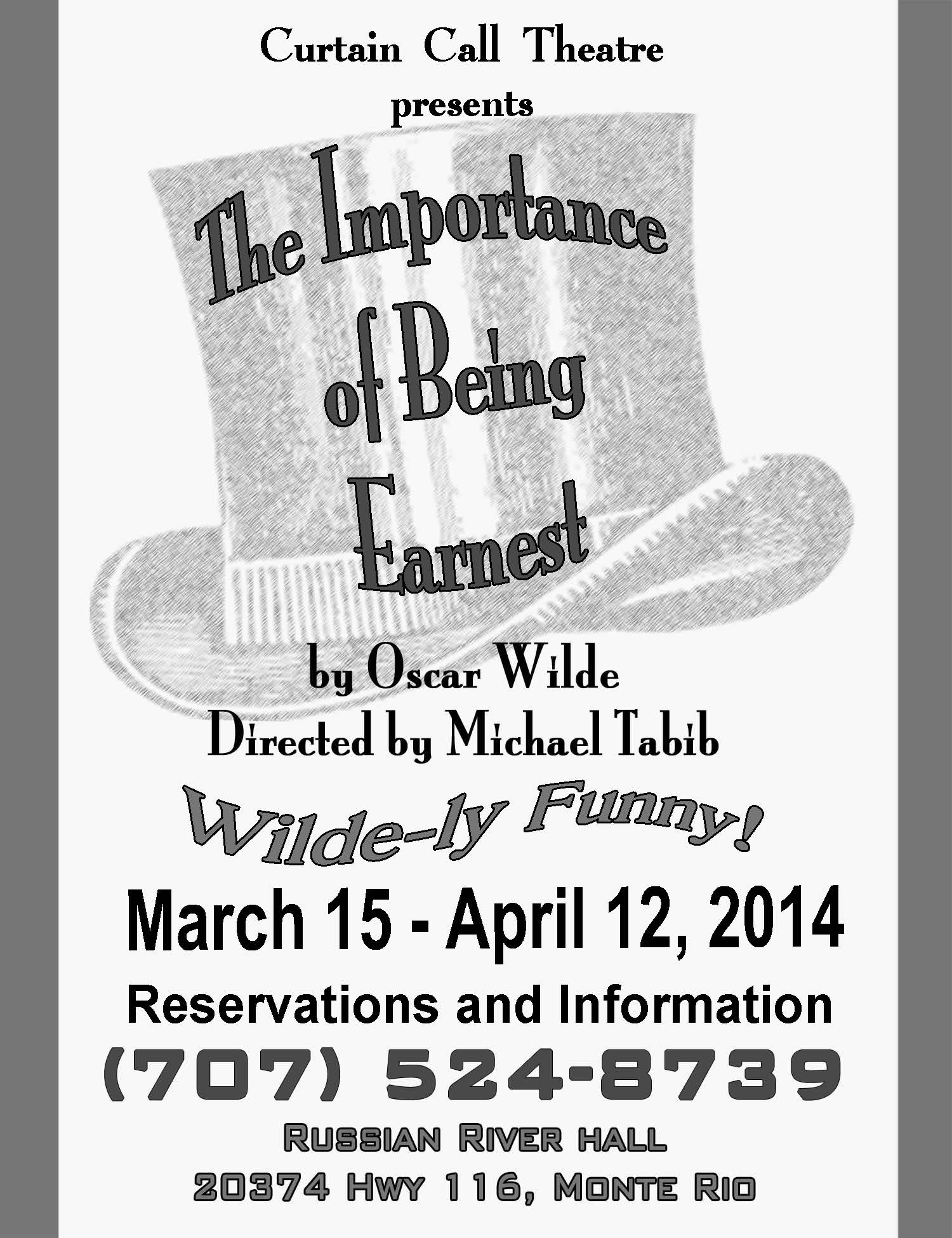 puns in the importance of being Literary devices in the importance of being earnest oscar wilde creates a comedic tone using puns, situational irony, dramatic irony, satire, and epigrams puns: a play on words so that a single word can have multiple meanings, puns not only reveal characters' cleverness but also suggest wilde's own opinions on certain topics.