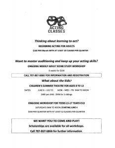 Beginning Acting for Adult Classes